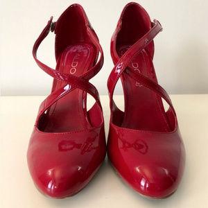 ALDO Red Heels Sz 38 (7.5)